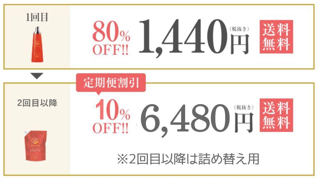 ヘアモア公式サイトの定期コース価格
